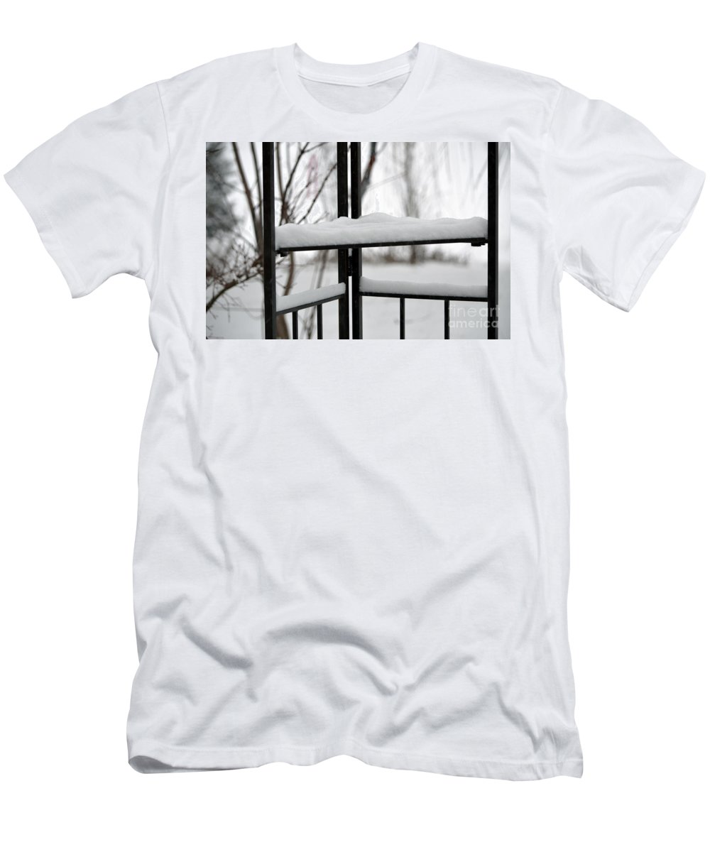 Winter Men's T-Shirt (Athletic Fit) featuring the photograph Winter Ironwork by Alys Caviness-Gober