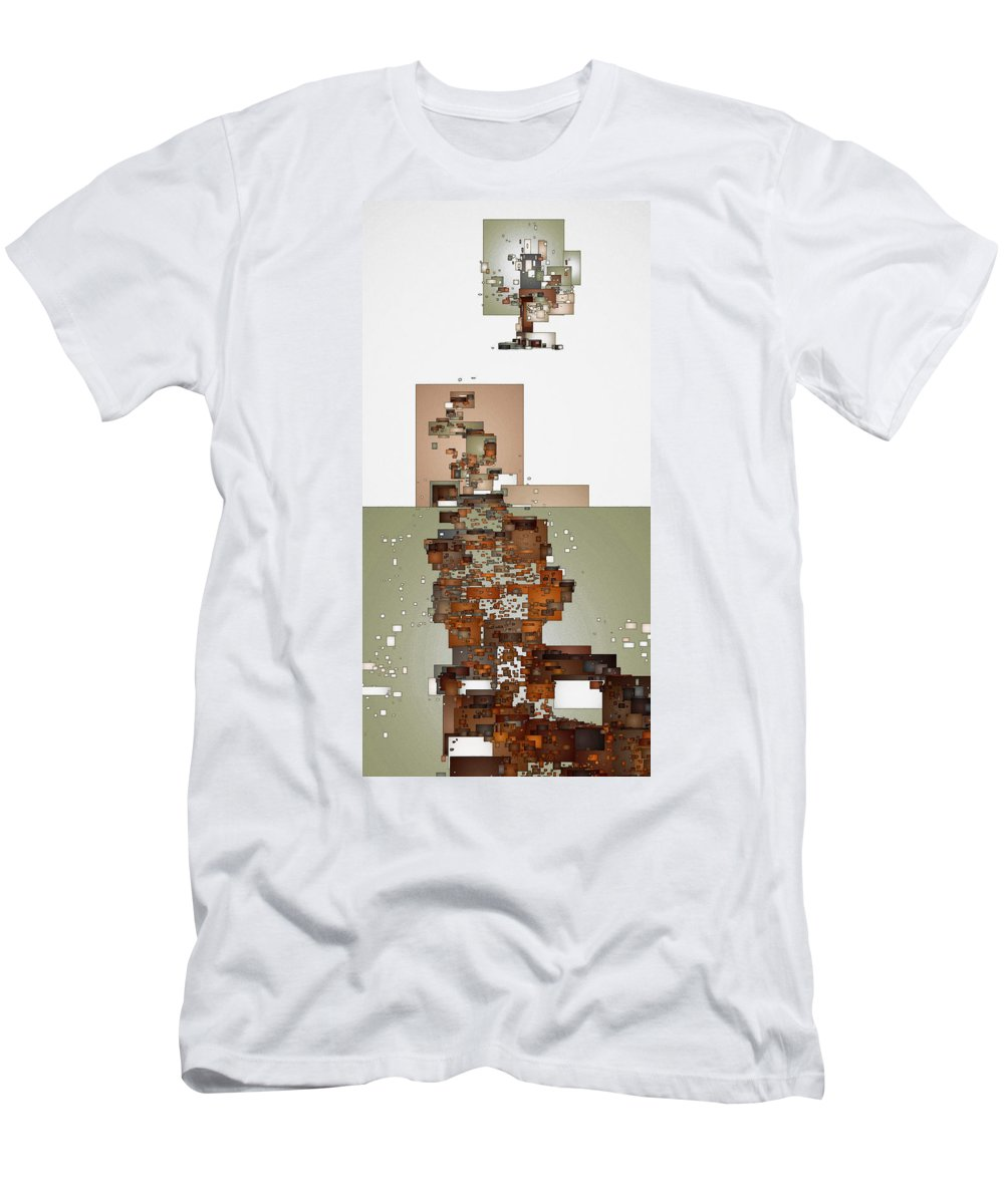 Digital Men's T-Shirt (Athletic Fit) featuring the digital art Winter Scene by David Hansen