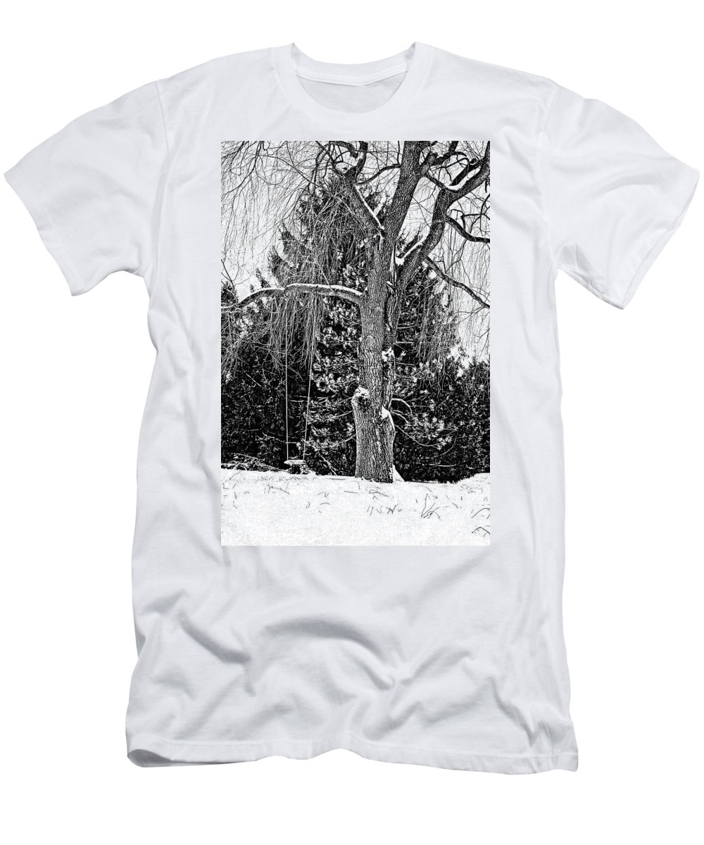Ontario Men's T-Shirt (Athletic Fit) featuring the photograph Winter Swing by Steve Harrington