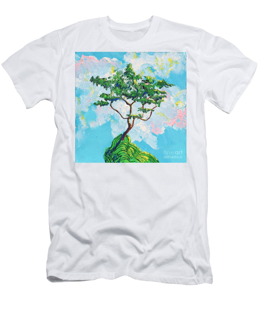 Landscape Men's T-Shirt (Athletic Fit) featuring the painting Wish Bone Tree by Stefan Duncan