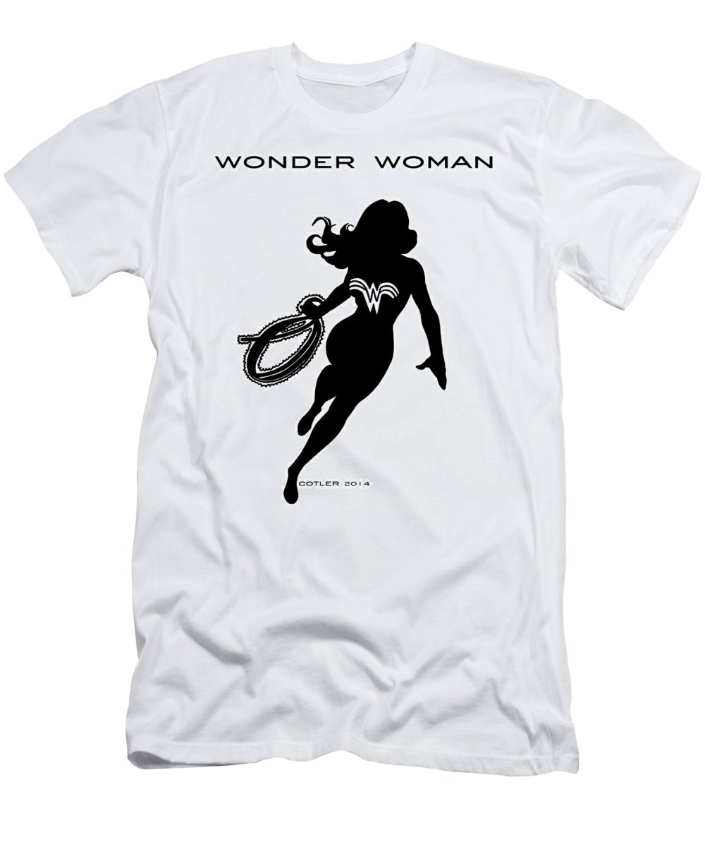Wonder Woman Men's T-Shirt (Athletic Fit) featuring the digital art Wonder Woman by GR Cotler