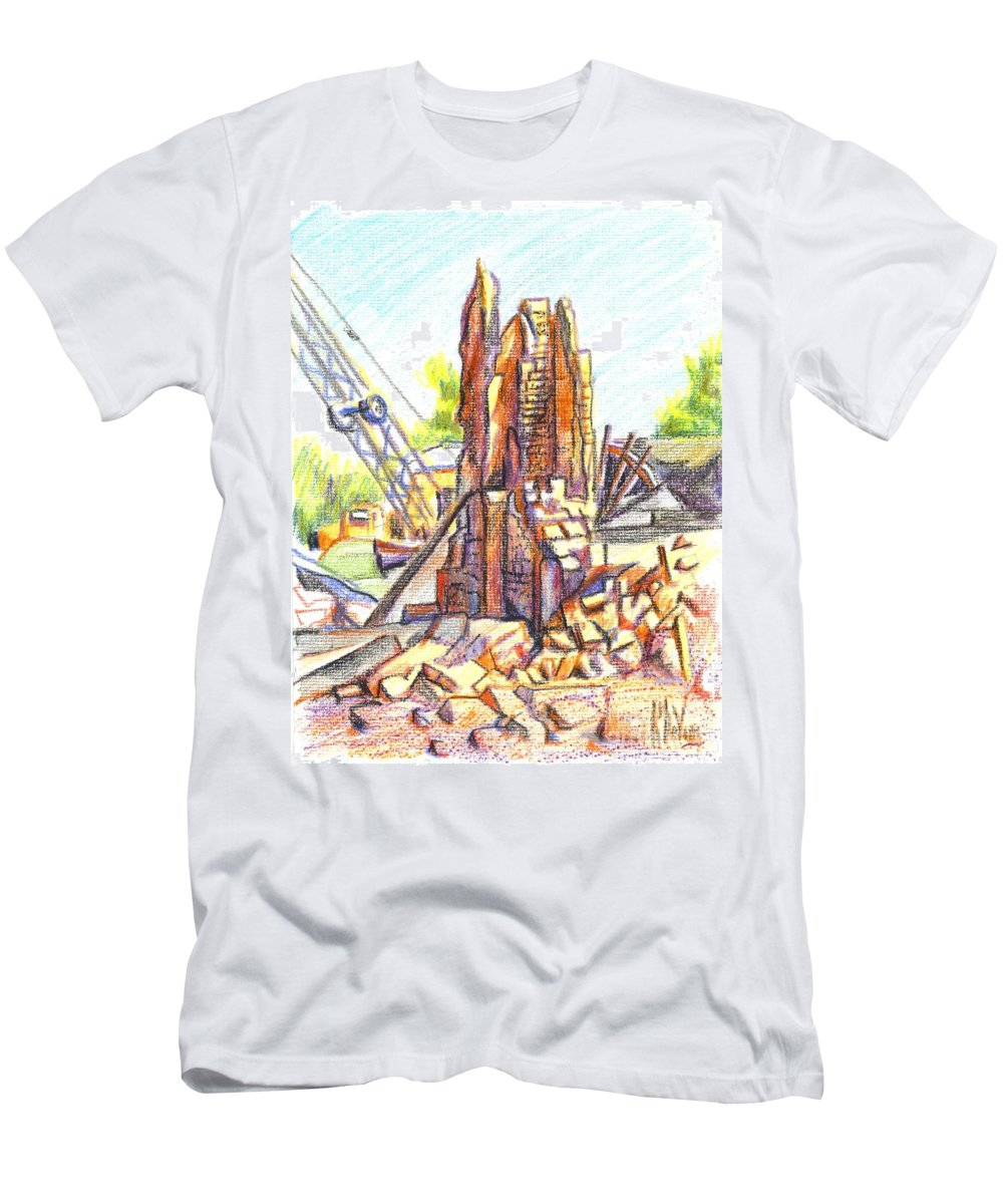 Wrecking Ball Men's T-Shirt (Athletic Fit) featuring the painting Wrecking Ball by Kip DeVore