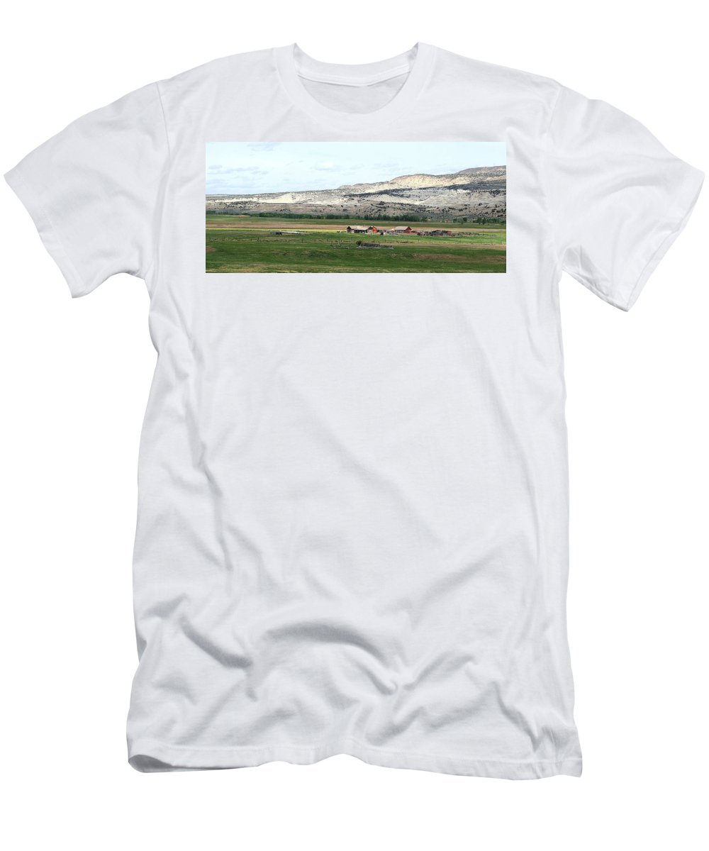 Valley Men's T-Shirt (Athletic Fit) featuring the photograph Wyoming Ranch by Jack Thomas