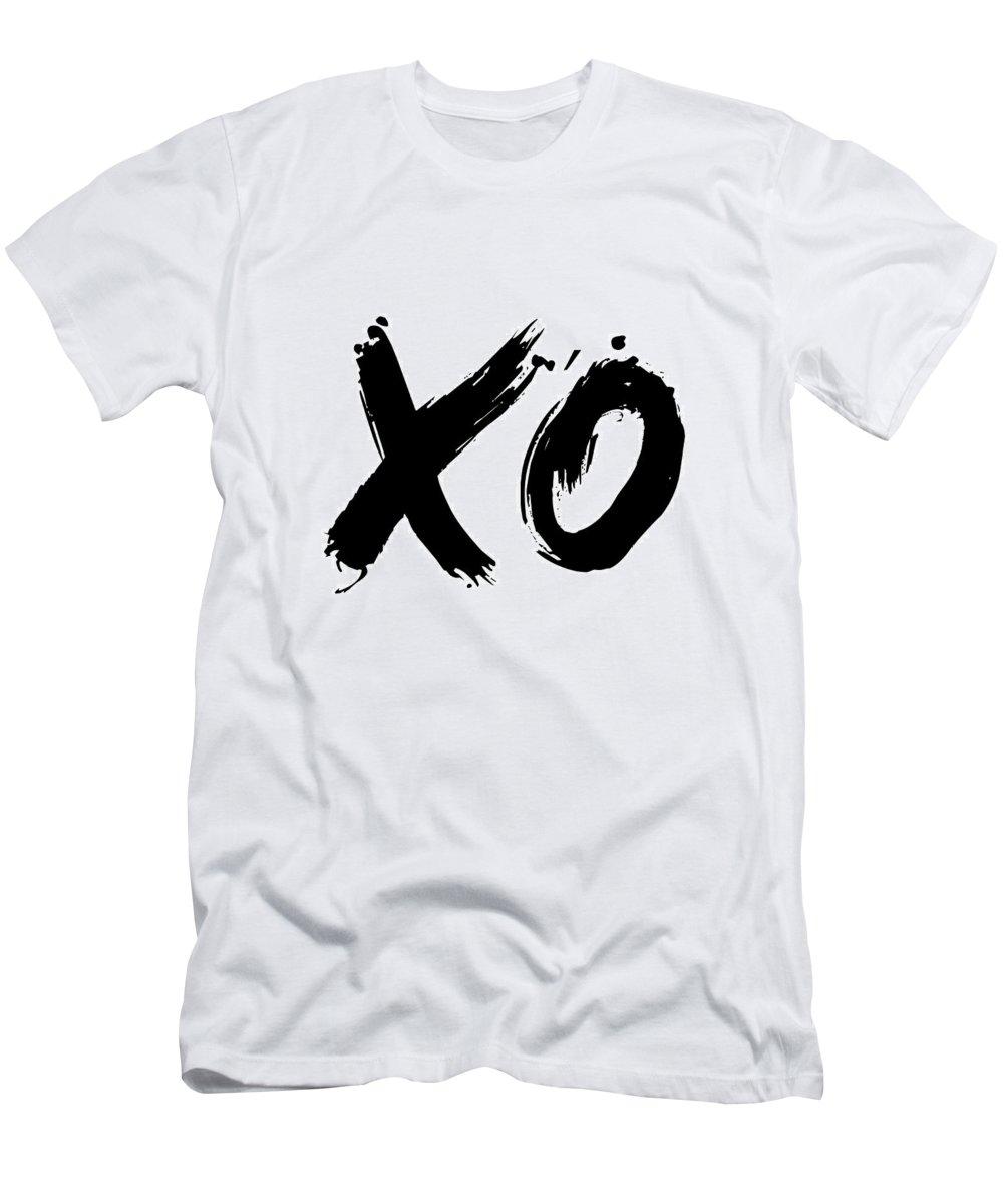 Motivational T-Shirt featuring the digital art XO Poster White by Naxart Studio