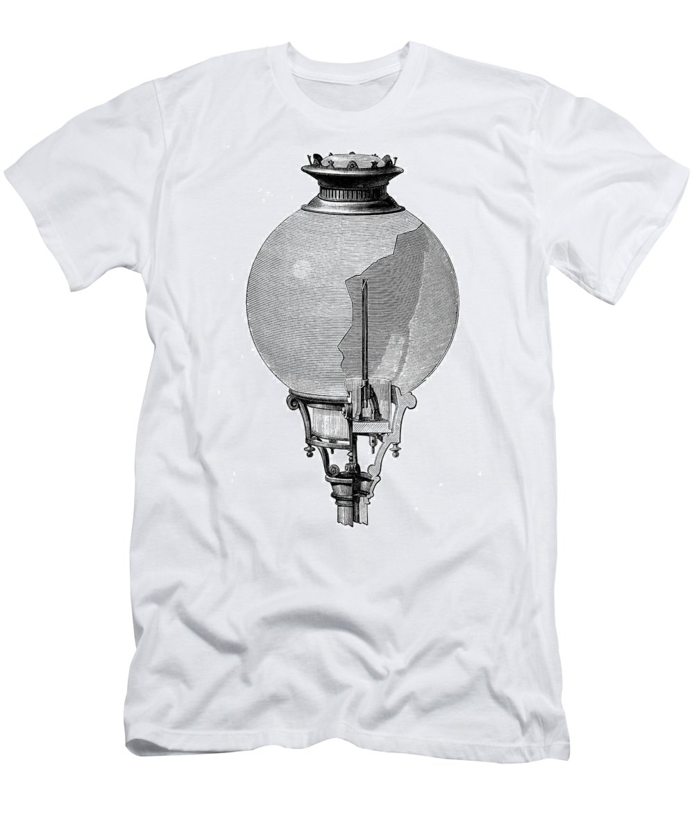 1876 Men's T-Shirt (Athletic Fit) featuring the photograph Yablochkov Candle by Granger
