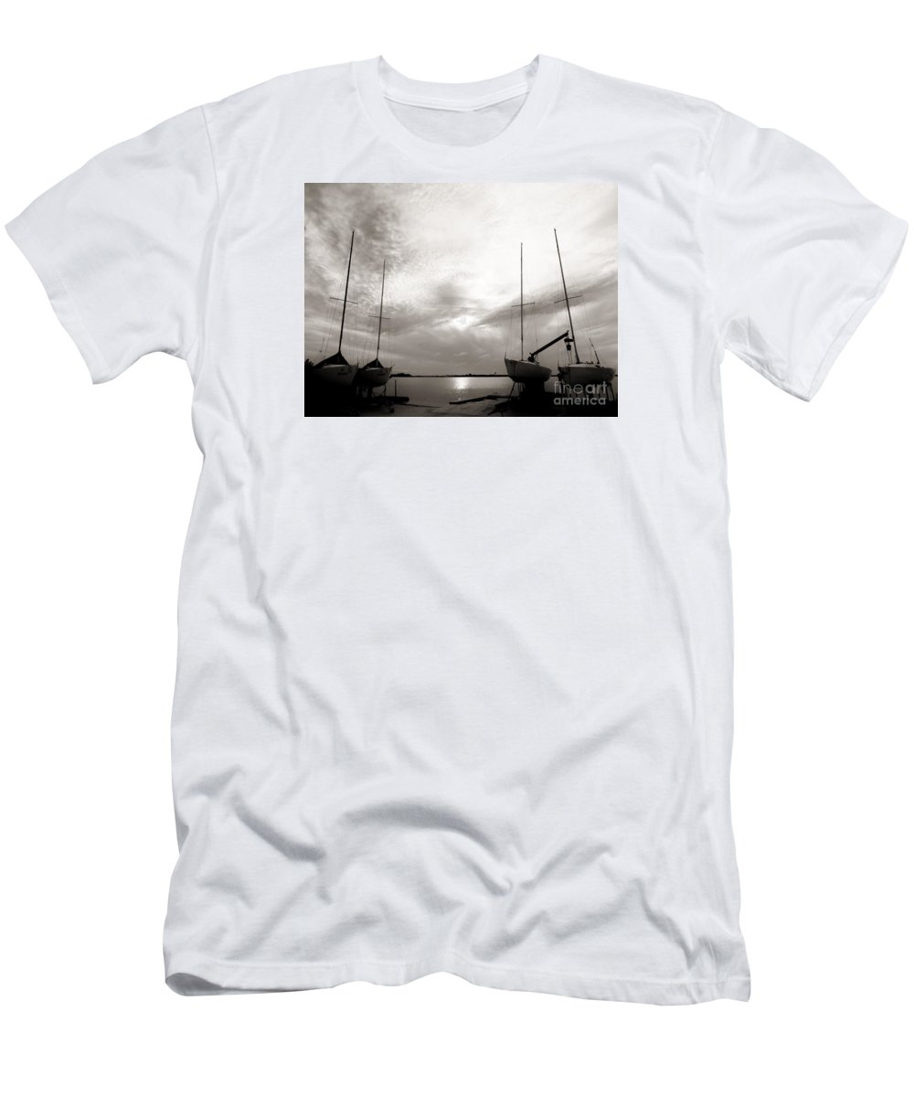 Cirrus Clouds Men's T-Shirt (Athletic Fit) featuring the photograph Cirrus Effect by Amar Sheow