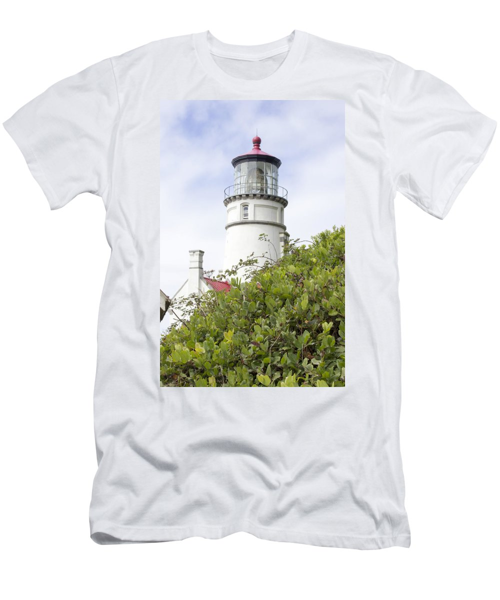 Men's T-Shirt (Athletic Fit) featuring the photograph Haceta Head Lighthouse 7 by Cathy Anderson