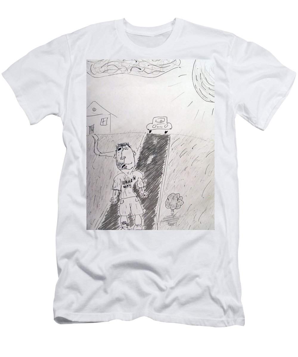 Pencil And Ink Men's T-Shirt (Athletic Fit) featuring the photograph Yo by Brent Dolliver