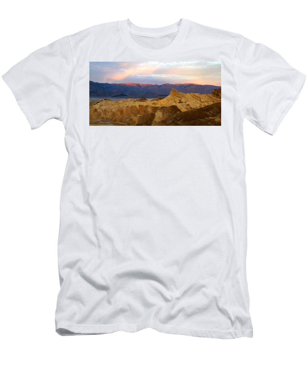 California Men's T-Shirt (Athletic Fit) featuring the photograph Zabriskie Point Sunrise Death Valley by Ed Riche