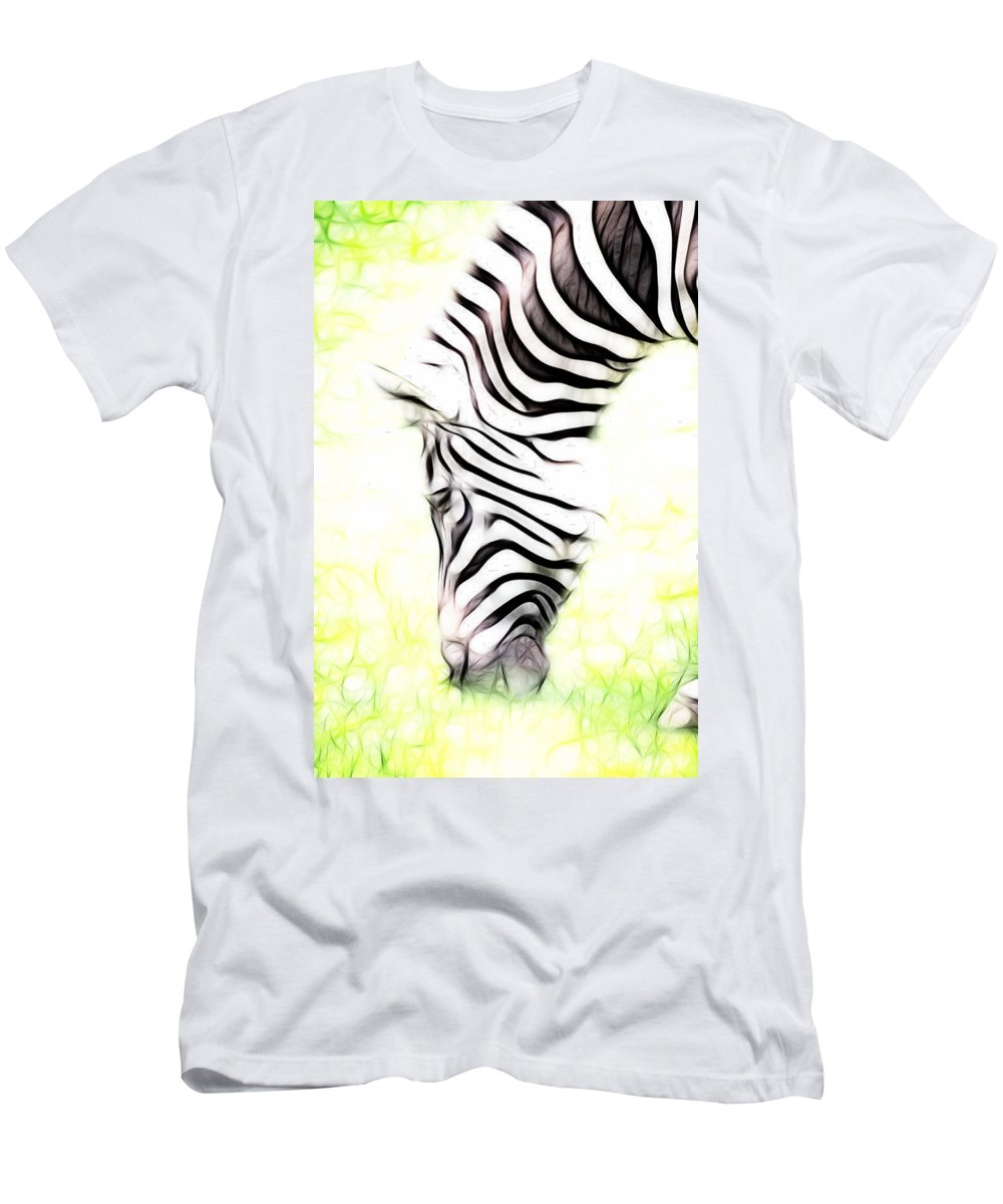 Zeebra Men's T-Shirt (Athletic Fit) featuring the photograph Zebra Art by Steve McKinzie