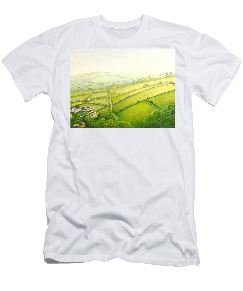 Country Men's T-Shirt (Athletic Fit) featuring the painting ... And Think Of England. by Norm Holmberg