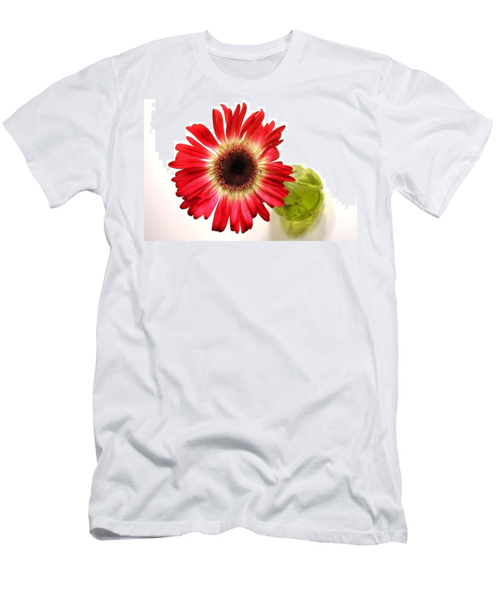 Gerbera Photographs Men's T-Shirt (Athletic Fit) featuring the photograph 2193c-001 by Kimberlie Gerner