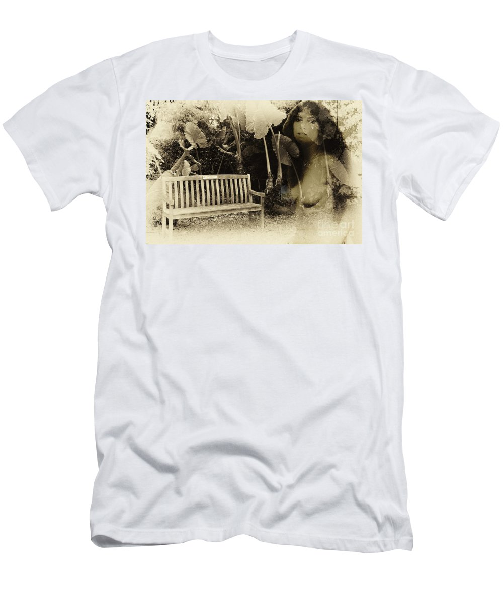 Garden Men's T-Shirt (Athletic Fit) featuring the photograph A Trip Through Time by Madeline Ellis