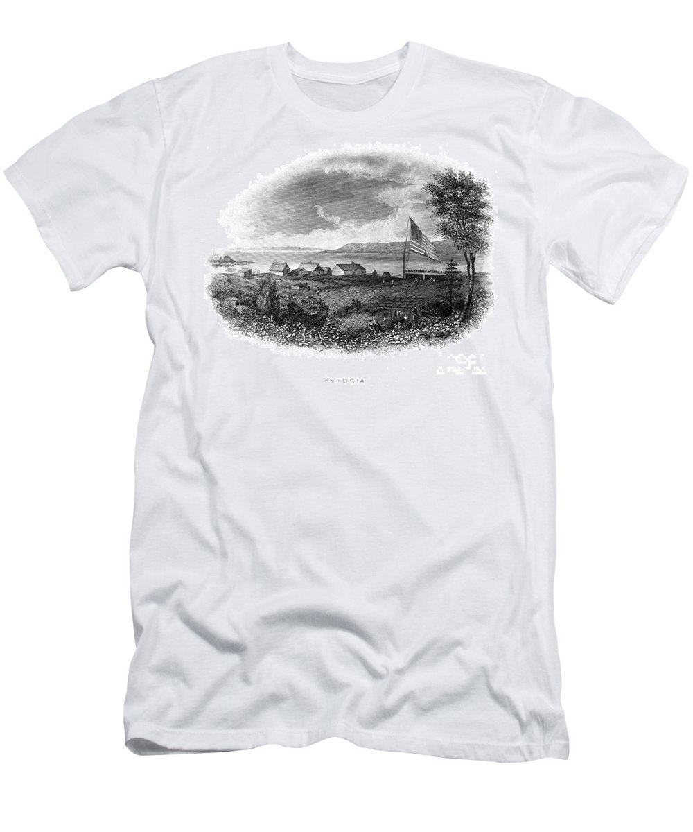 19th Century Men's T-Shirt (Athletic Fit) featuring the photograph Astoria, Oregon by Granger