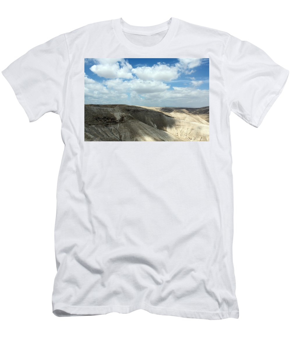 Bethlehem Men's T-Shirt (Athletic Fit) featuring the photograph Bethlehem Desert by Munir Alawi