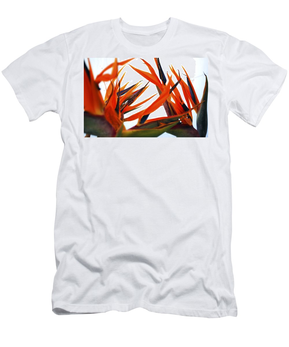Bird Of Paraside Flower Men's T-Shirt (Athletic Fit) featuring the photograph Bird Of Paradise by Sumit Mehndiratta