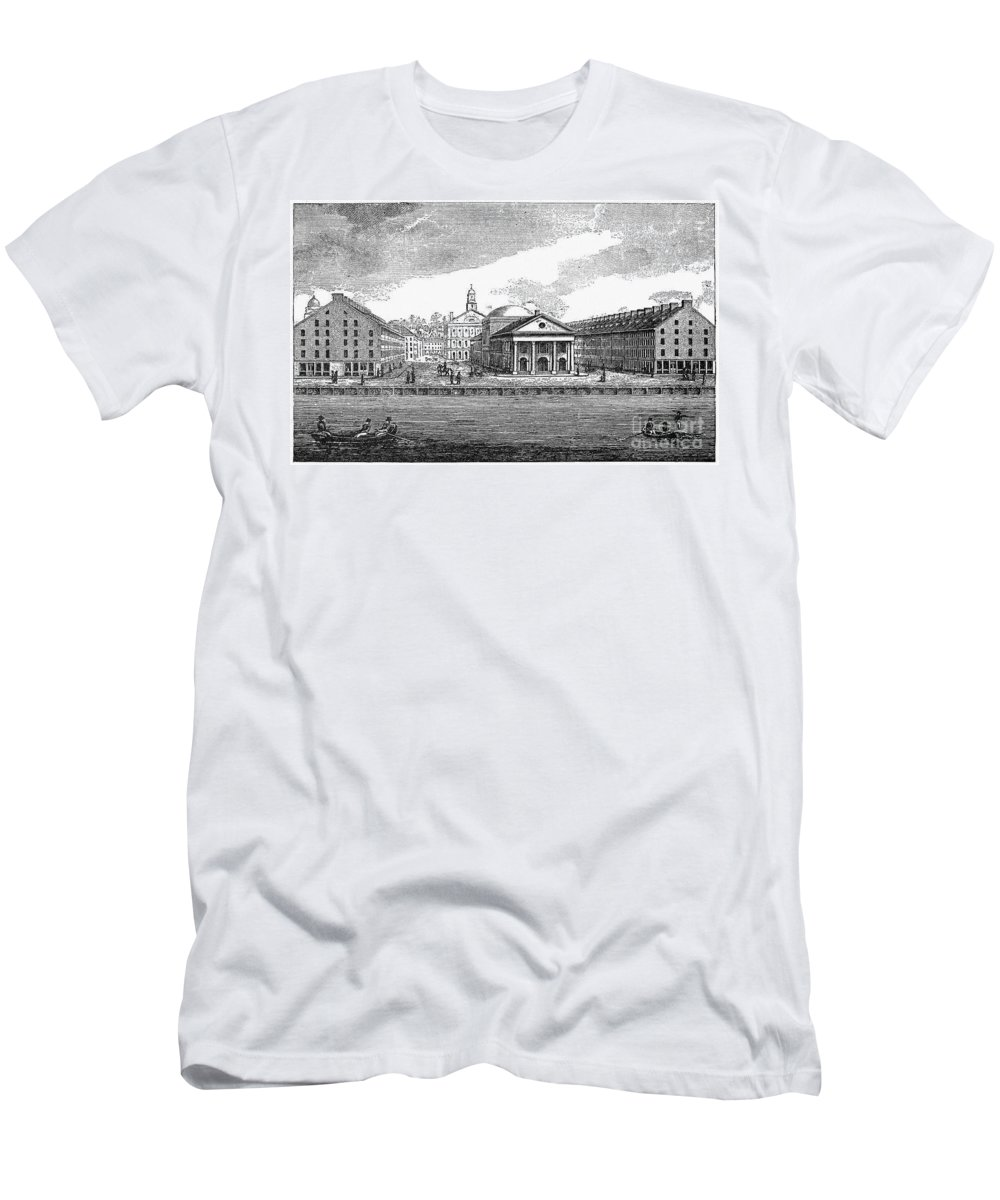 19th Century T-Shirt featuring the photograph Boston: Quincy Market by Granger