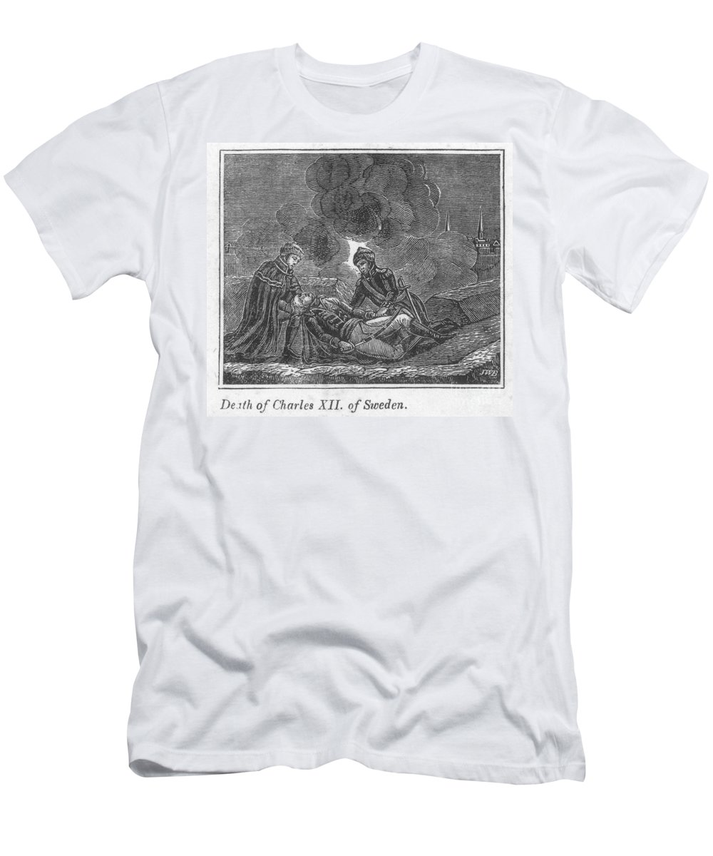 1718 Men's T-Shirt (Athletic Fit) featuring the photograph Charles Xii Of Sweden by Granger