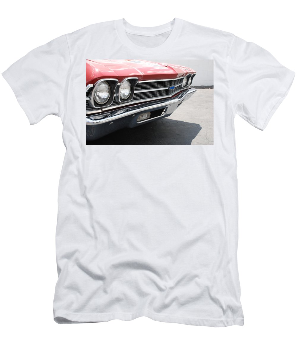 Chevy Men's T-Shirt (Athletic Fit) featuring the photograph Cherry Chevelle by Rob Hans