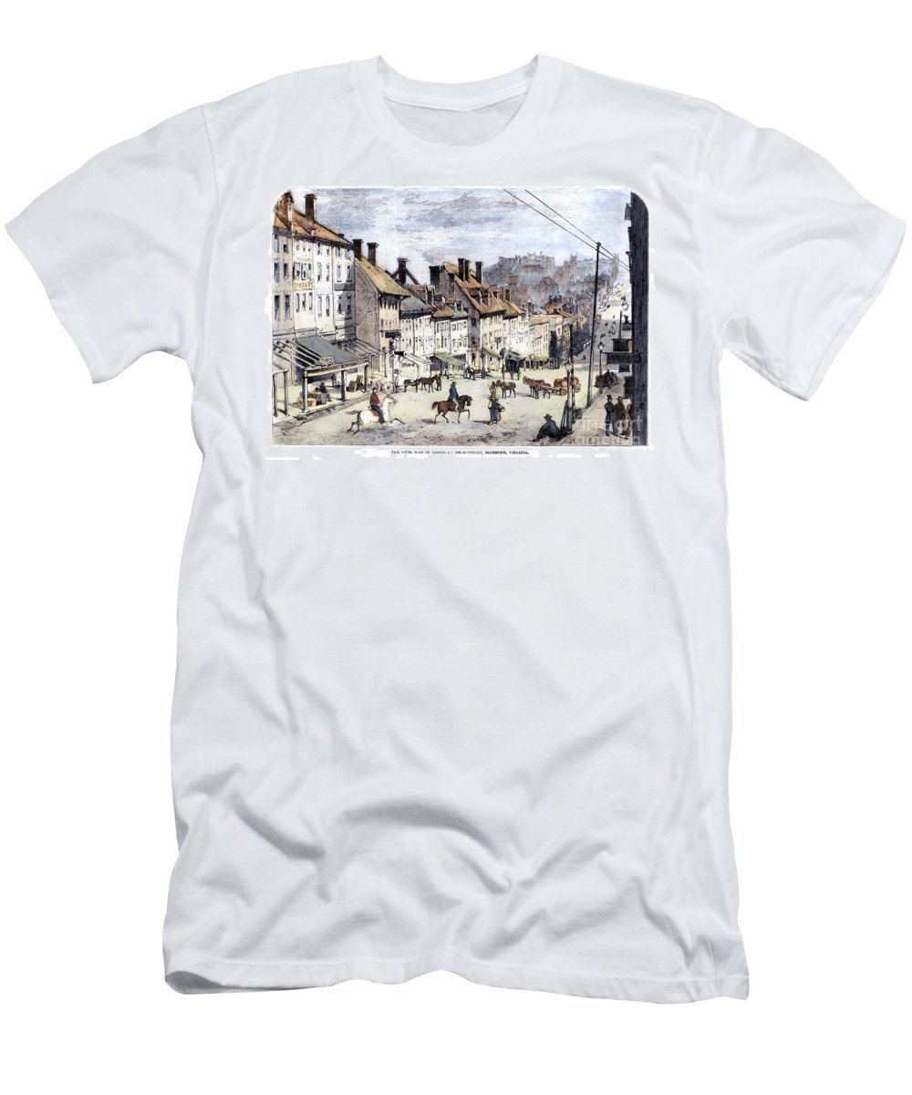 1862 Men's T-Shirt (Athletic Fit) featuring the photograph Civil War: Richmond, 1862 by Granger