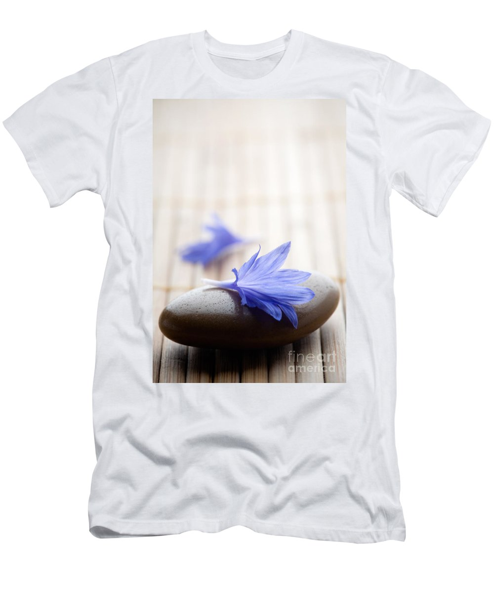 Flower Men's T-Shirt (Athletic Fit) featuring the photograph Cornflower by Kati Finell