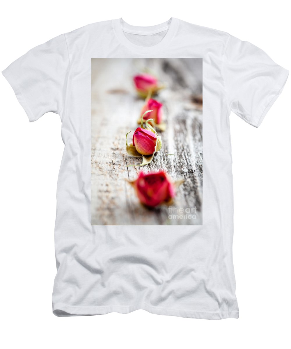 Aroma Men's T-Shirt (Athletic Fit) featuring the photograph Dried Rose Buds by Kati Finell