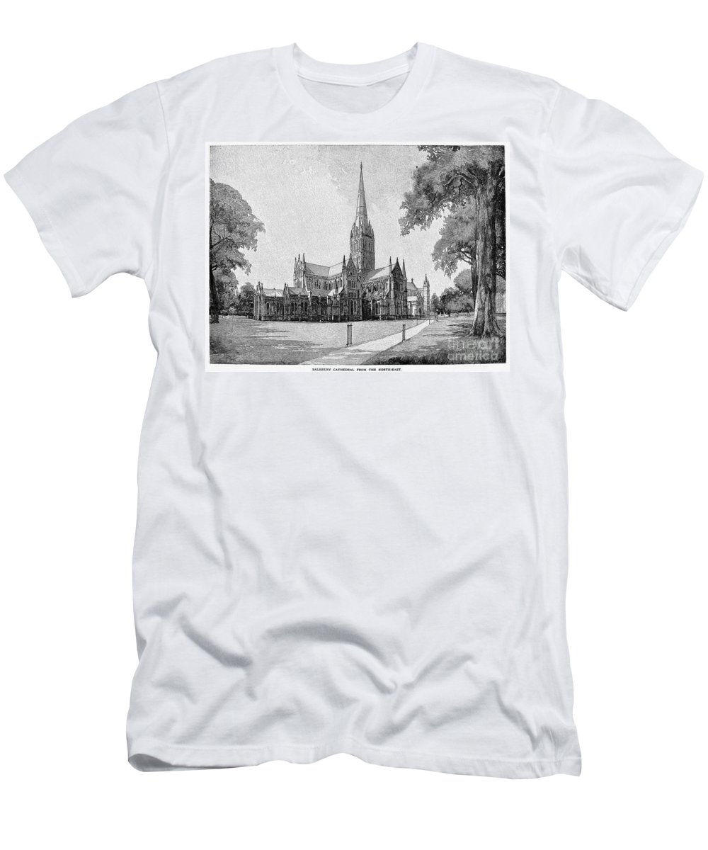 13th Century Men's T-Shirt (Athletic Fit) featuring the photograph England: Salisbury by Granger
