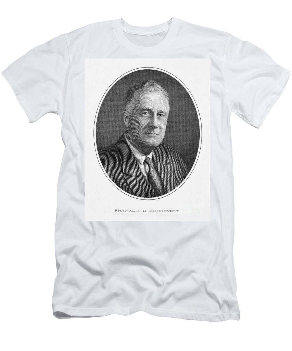 20th Century Men's T-Shirt (Athletic Fit) featuring the photograph Franklin Delano Roosevelt by Granger