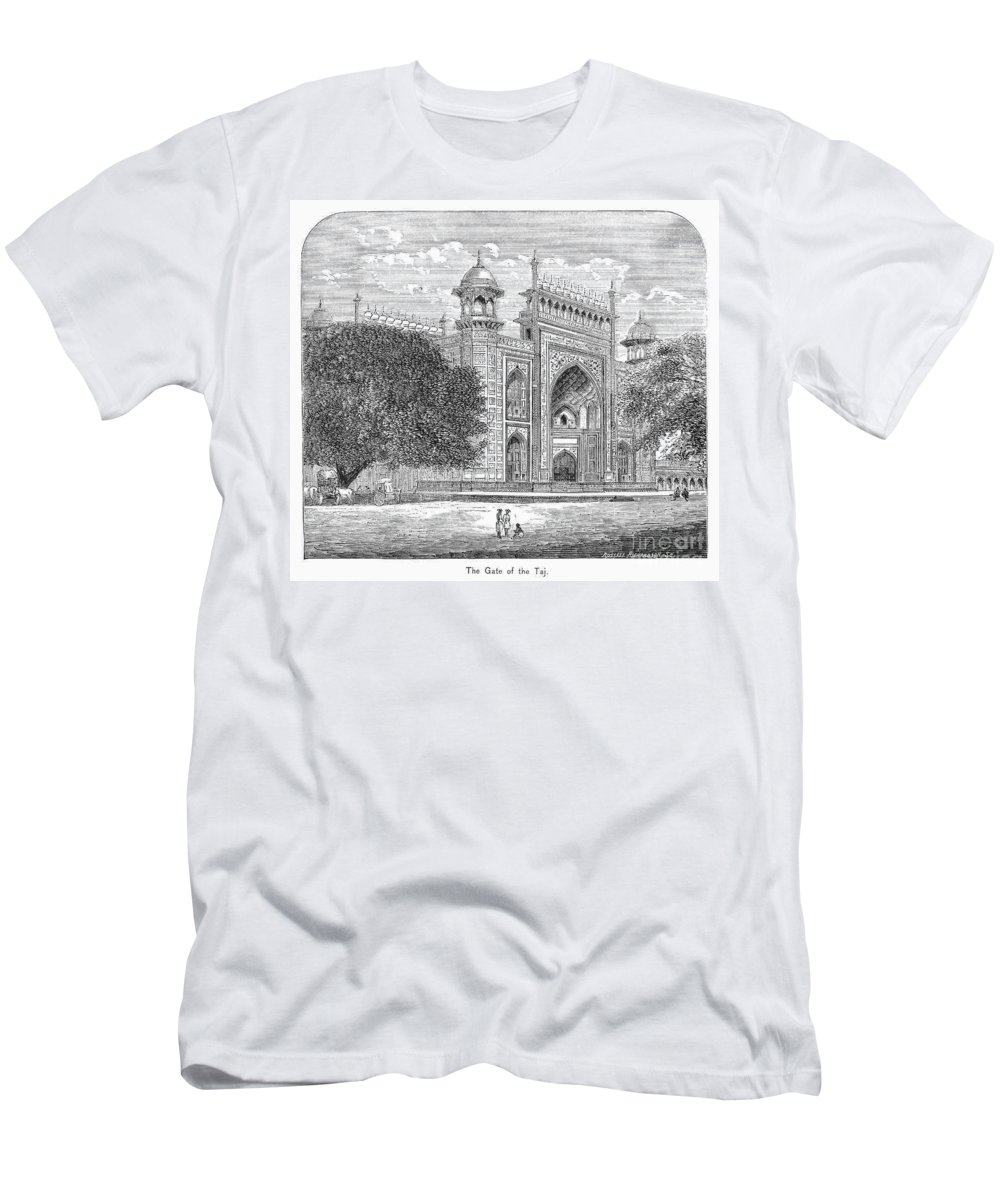 19th Century Men's T-Shirt (Athletic Fit) featuring the photograph India: Taj Mahal by Granger