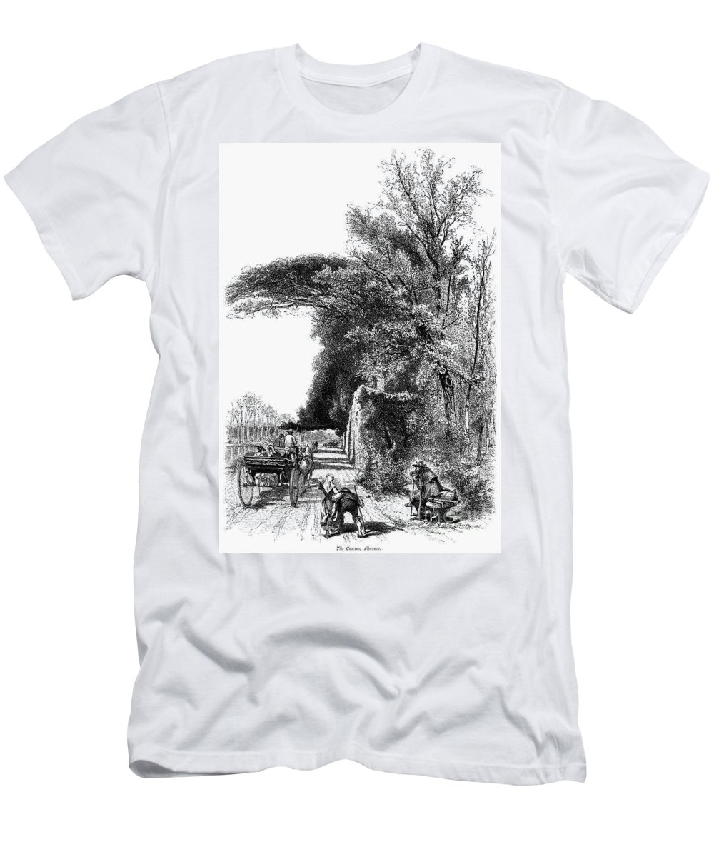 1875 Men's T-Shirt (Athletic Fit) featuring the photograph Italy: Florence, C1875 by Granger
