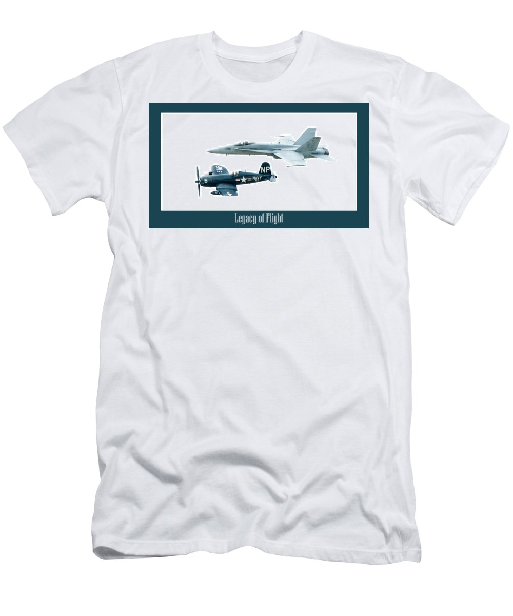Airshow Men's T-Shirt (Athletic Fit) featuring the photograph Legacy Of Flight by Greg Fortier