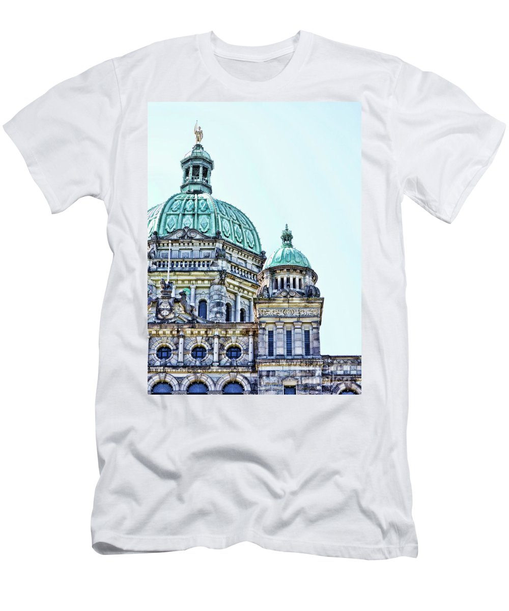 British Columbia Men's T-Shirt (Athletic Fit) featuring the photograph Parliament by Traci Cottingham
