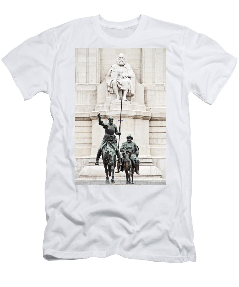 Cervantes Men's T-Shirt (Athletic Fit) featuring the photograph Plaza De Espana by John Greim