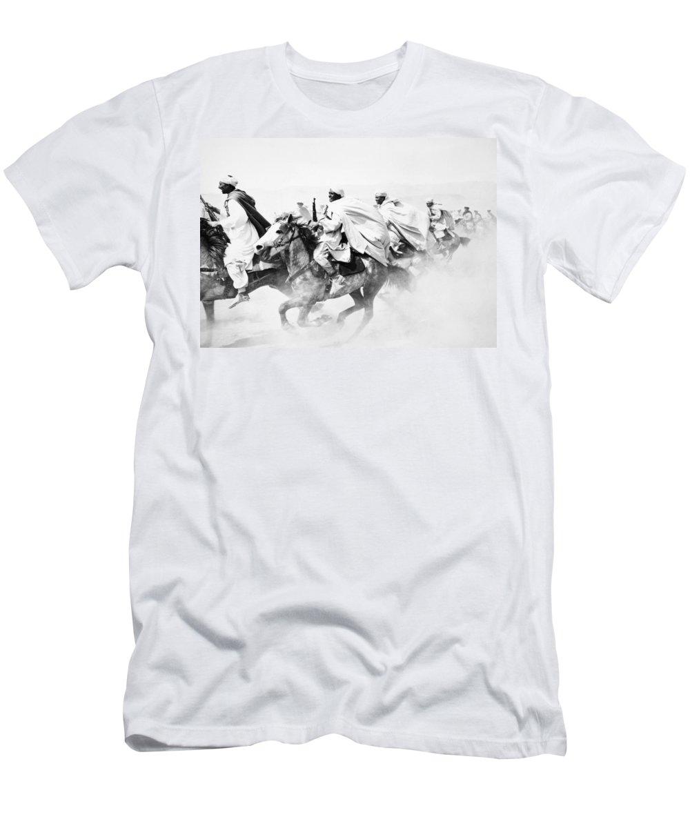 -battle Scene- Men's T-Shirt (Athletic Fit) featuring the photograph Silent Still: Battle Scene by Granger
