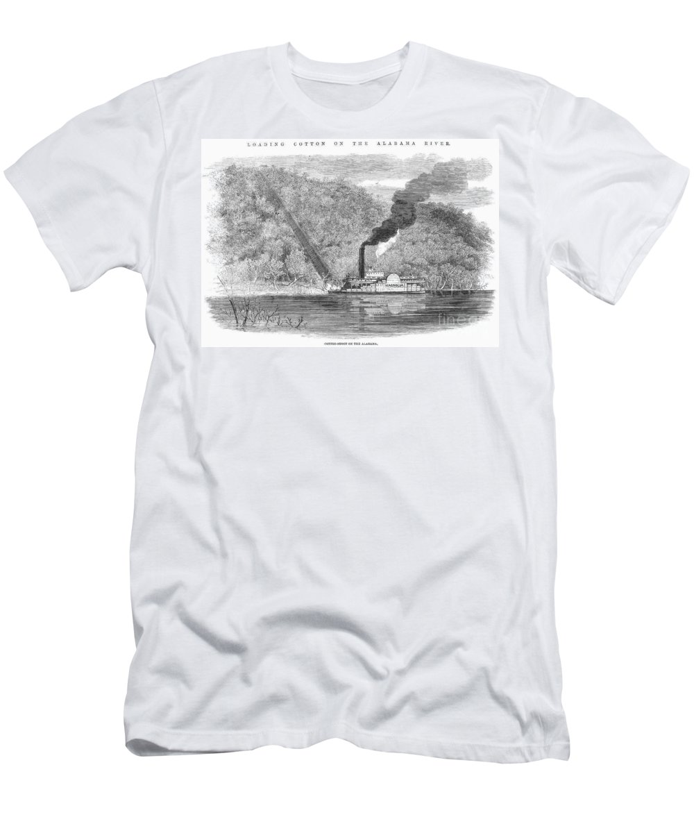 1861 Men's T-Shirt (Athletic Fit) featuring the photograph South: Cotton, 1861 by Granger
