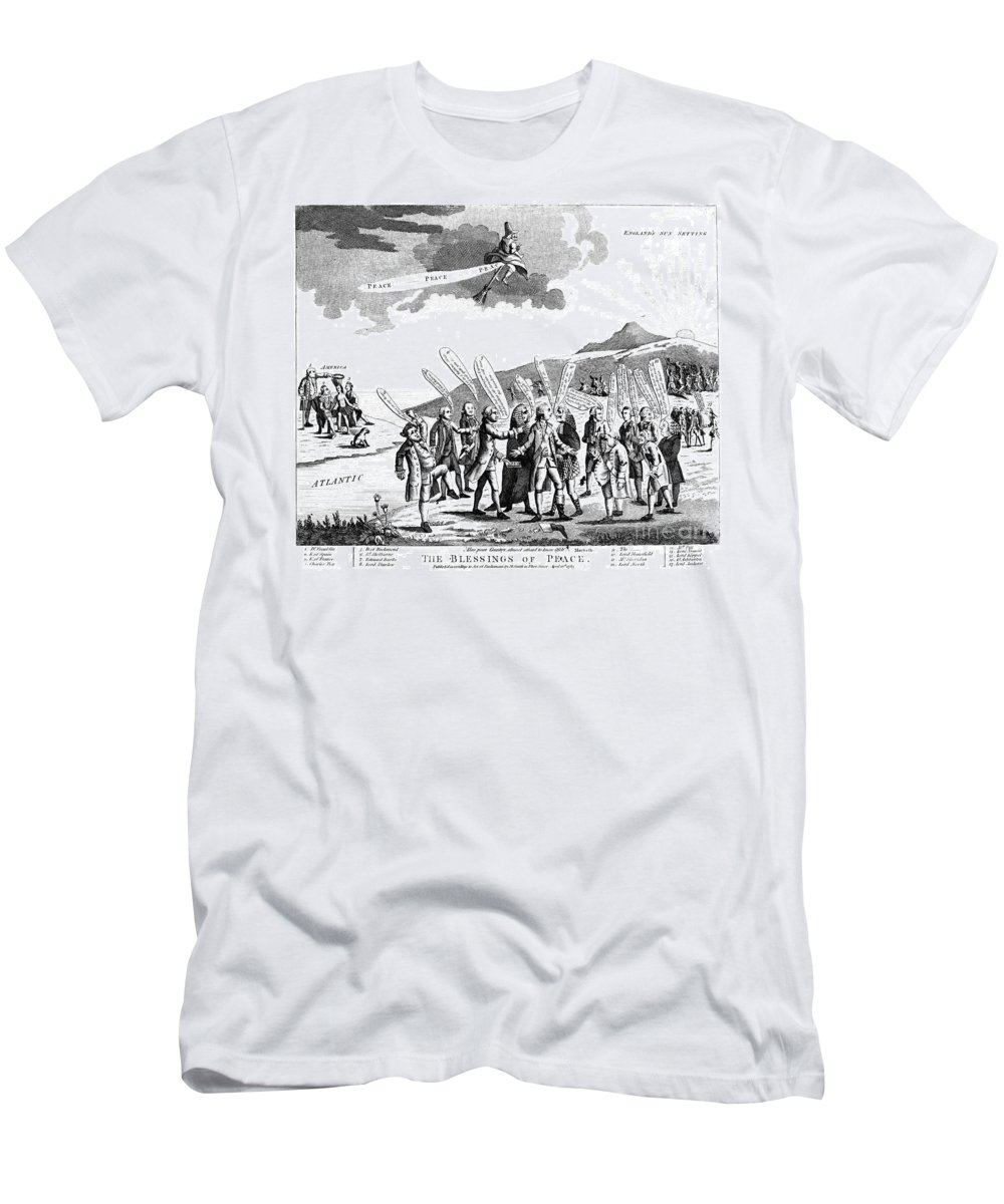 1783 Men's T-Shirt (Athletic Fit) featuring the photograph Treaty Of Paris, 1783 by Granger