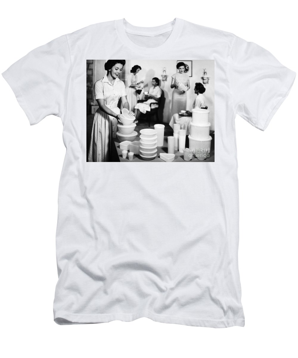 1950s T-Shirt featuring the photograph TUPPERWARE PARTY, 1950s by Granger