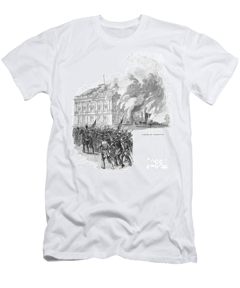 1814 Men's T-Shirt (Athletic Fit) featuring the photograph Washington Burning, 1814 by Granger