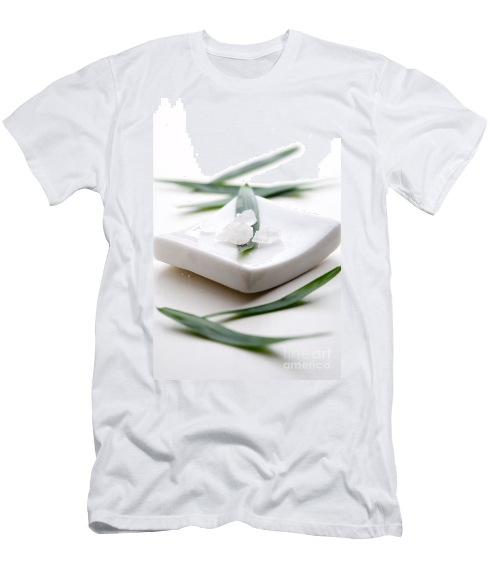 Kamo Men's T-Shirt (Athletic Fit) featuring the photograph White Bath Salt by Kati Finell
