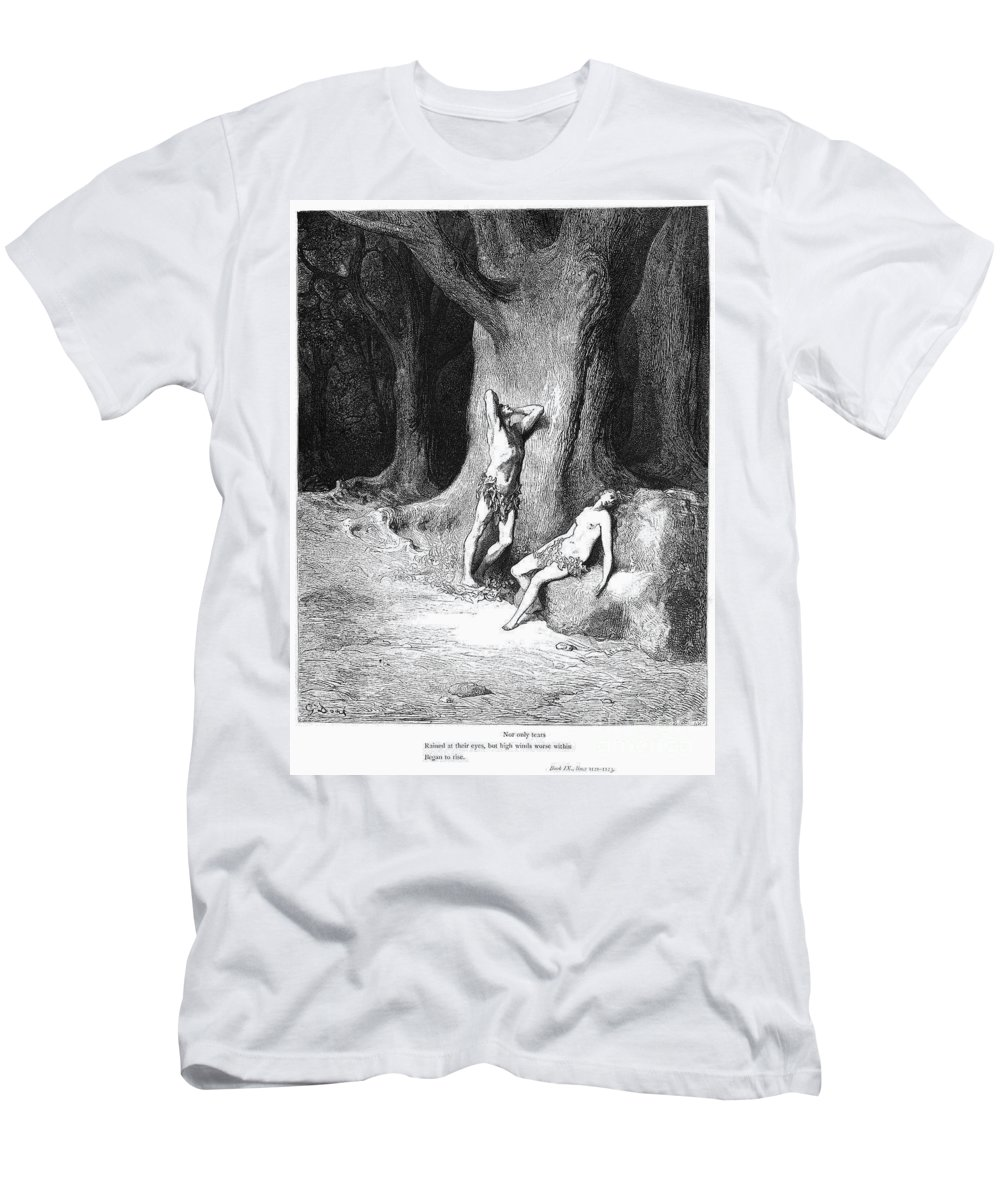 Adam Men's T-Shirt (Athletic Fit) featuring the photograph Milton: Paradise Lost by Granger