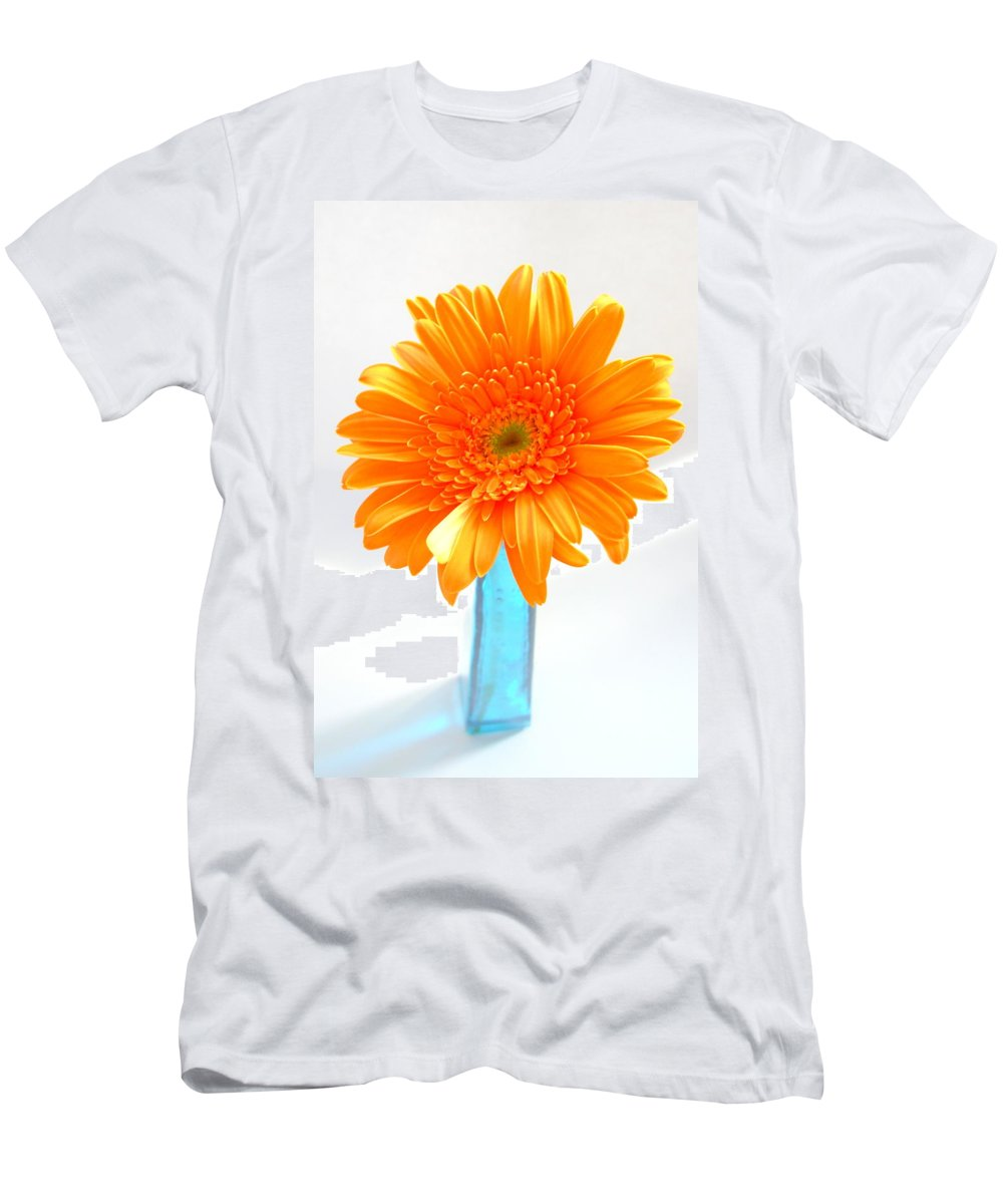Gerbera Photographs Men's T-Shirt (Athletic Fit) featuring the photograph 1611-002 by Kimberlie Gerner