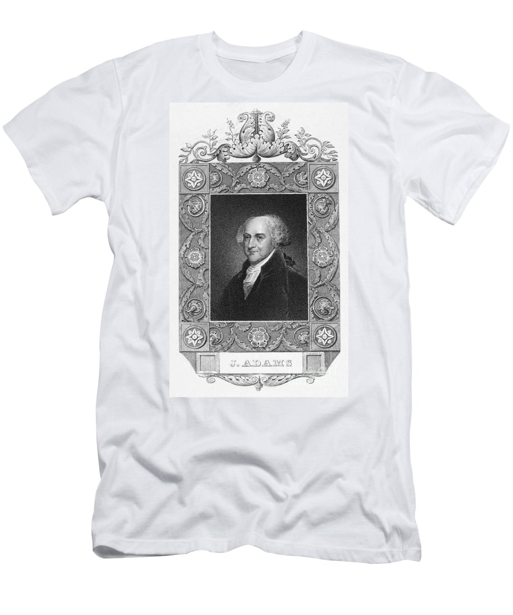 18th Century Men's T-Shirt (Athletic Fit) featuring the photograph John Adams (1735-1826) by Granger