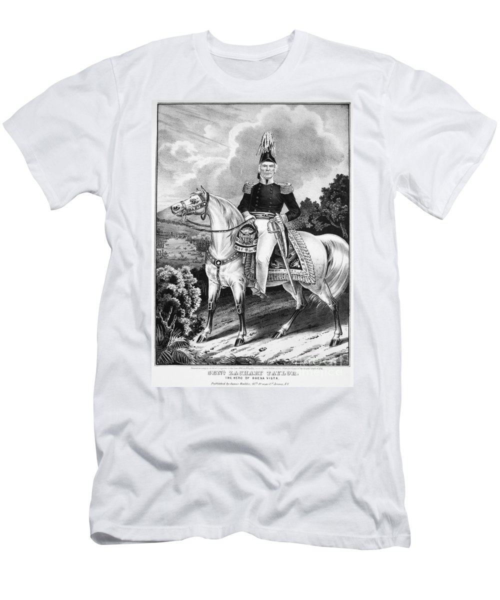 1848 Men's T-Shirt (Athletic Fit) featuring the photograph Zachary Taylor (1784-1850) by Granger