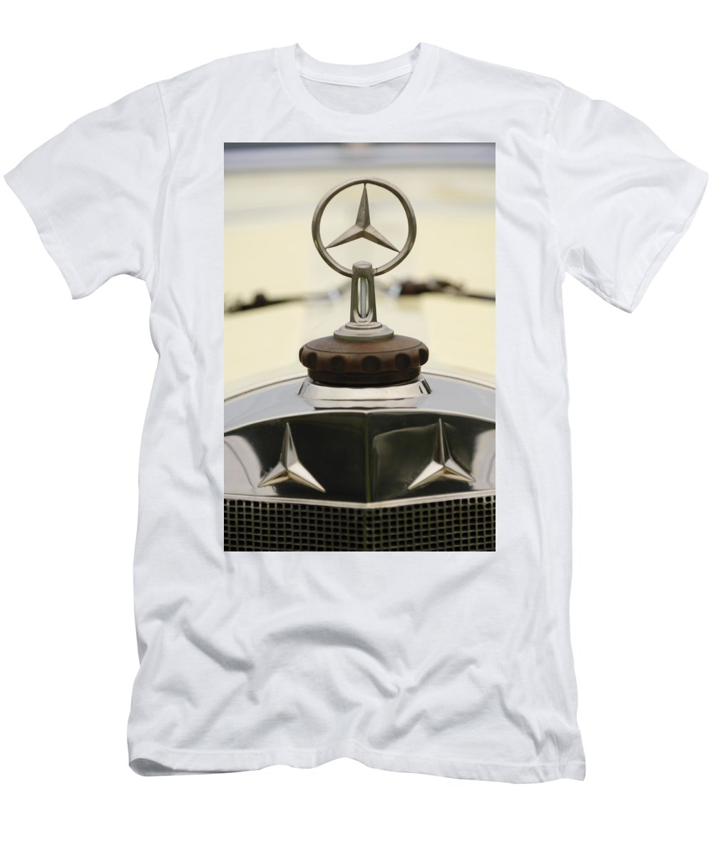 1927 Mercedes-benz S Men's T-Shirt (Athletic Fit) featuring the photograph 1927 Mercedes-benz S Hood Ornament 2 by Jill Reger