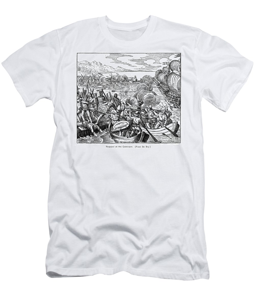 1499 Men's T-Shirt (Athletic Fit) featuring the photograph Amerigo Vespucci (1454-1512) by Granger