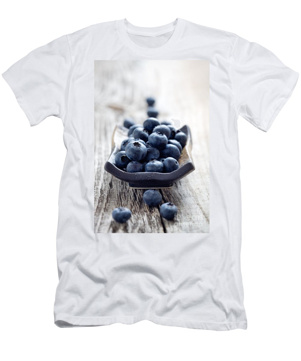 Antioxidant Men's T-Shirt (Athletic Fit) featuring the photograph Blueberries by Kati Finell