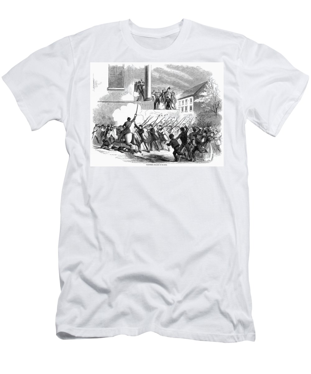 1861 Men's T-Shirt (Athletic Fit) featuring the photograph Civil War: Volunteers 1861 by Granger