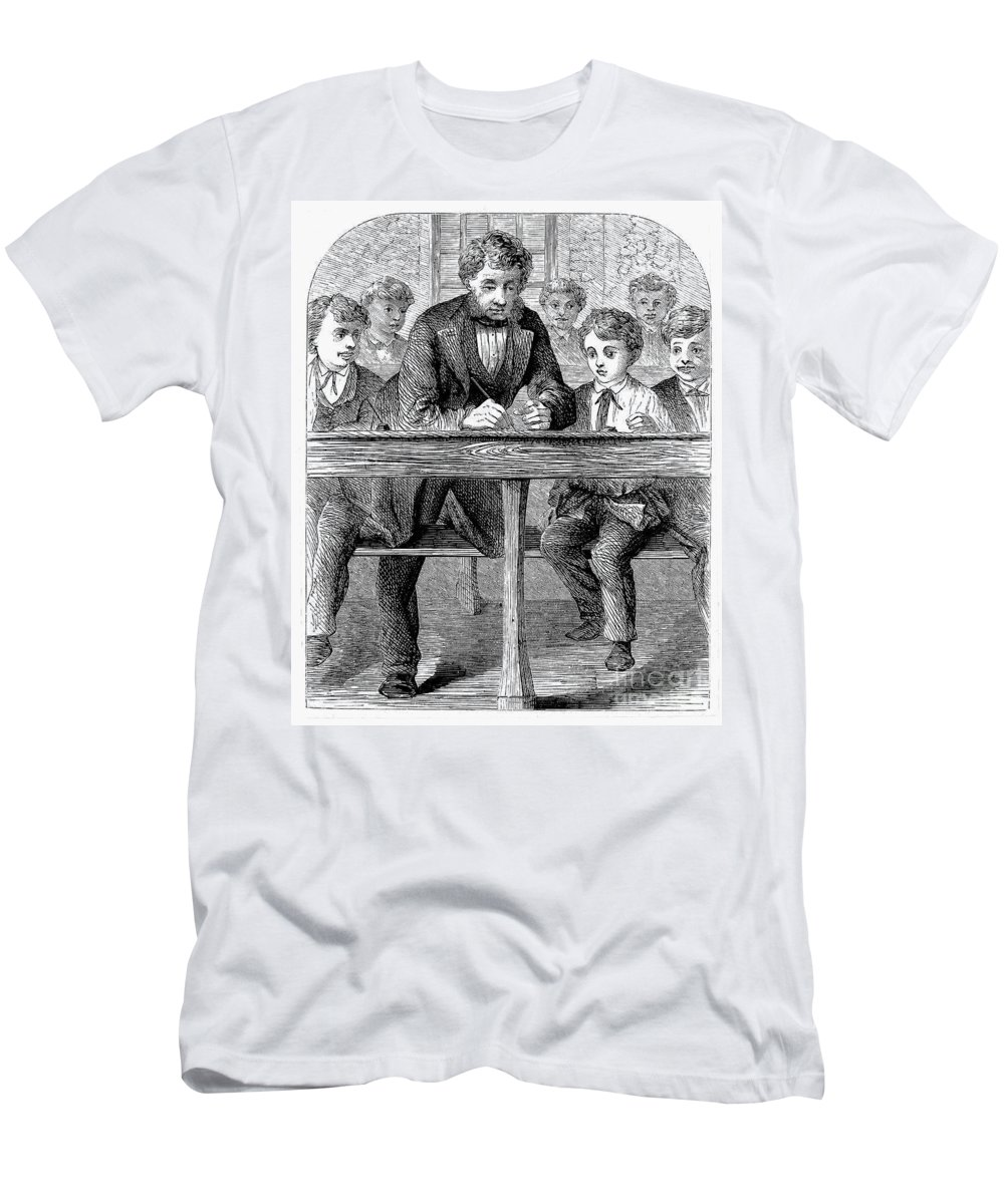 19th Century Men's T-Shirt (Athletic Fit) featuring the photograph Elementary School by Granger