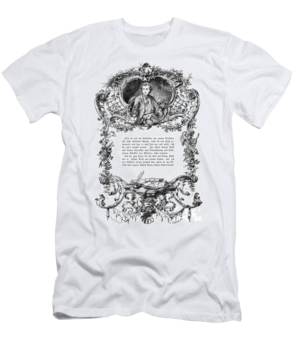 18th Century Men's T-Shirt (Athletic Fit) featuring the photograph Goethe: Werther by Granger
