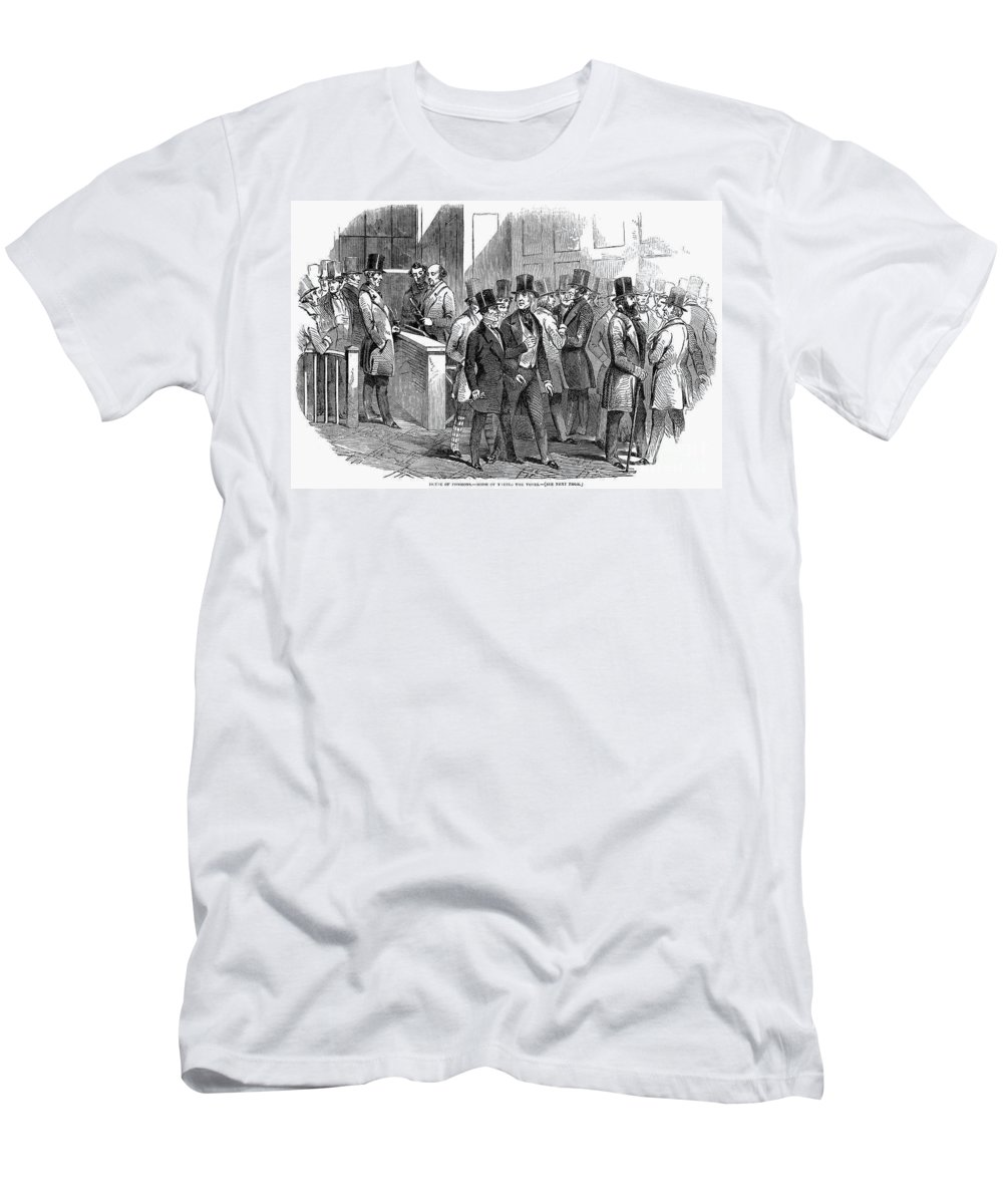 1849 Men's T-Shirt (Athletic Fit) featuring the photograph Great Britain: Parliament by Granger